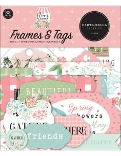 Troquelados marcos y etiquetas Flower Garden de Carta Bella