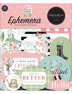 Troquelados Ephemera Flower Garden de Carta Bella