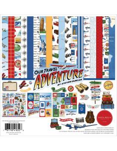"Kit 12"" Our Travel Adventure de Carta Bella"
