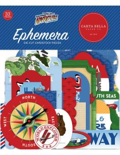 Troquelados Ephemera Our Travel Adventure de Carta Bella