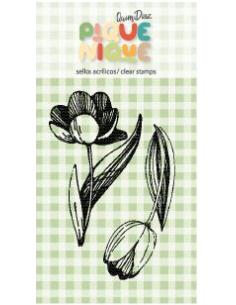 Sello tulipán Pique-Nique de Quim Díaz