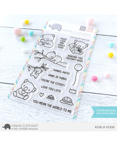 Sello Koala Hugs de Mama Elephant