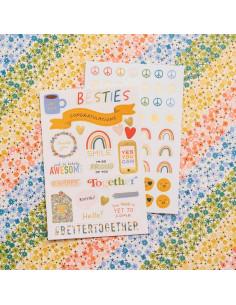 Mini-libro pegatinas Wonders de paige Evans
