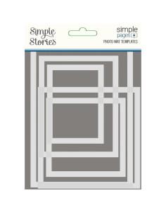 Set 5 plantilla para foto de Simple stories
