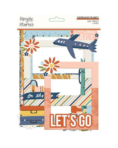 Marcos chipboard Safe travel de Simple stories