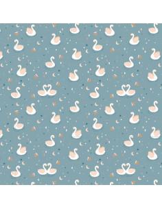 Tela encuadernar Cisnes 35x50cm de Wilma Moon