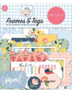 Troquelados Frames & Tags Summer de Carta Bella