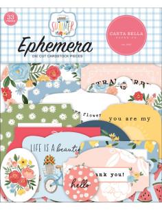 Troquelados Ephemera Summer de Carta Bella