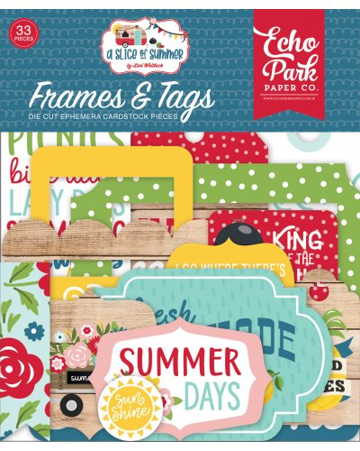 Troquelados Frames & Tags A Slice of Summer de Echo Park