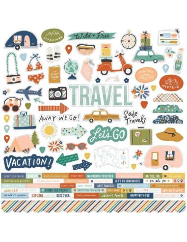 Hoja de pegatina Safe Travels de Simple Stories