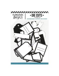 Troquelados etiquetas blanco/negro de Florilèges