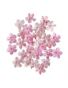 Flores de papel perla Rosa de Dp Craft