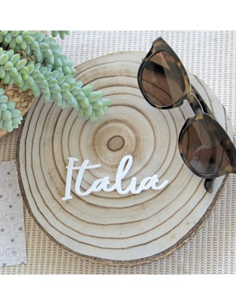 Palabra acrílico Italia