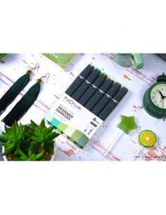 Rotuladores Nova doble punta, verdes