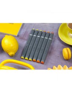 Rotuladores Nova doble punta, amarillos/naranjas