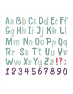 Troquel Bold Brush Alphabet de Sizzix