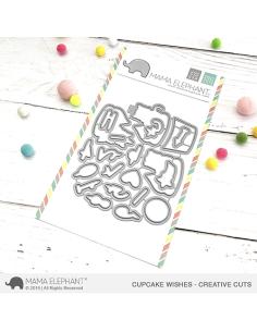Troquel Cupcake Wishes de Mama Elephant