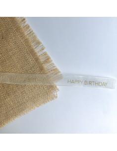 1m de lazo organza Happy Birthday