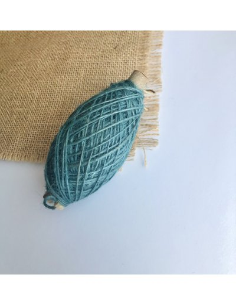 Ovillo cordón lino verde vintage