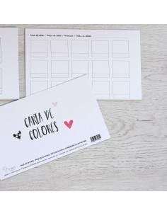 Pack fichas Cartas de Colores