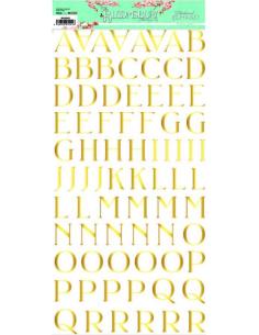Alfabeto chipboard dorado The Bloomsbury de Alberto Juárez