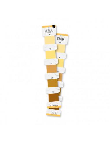 Set hilos bordar Amarillo de Lorabailora