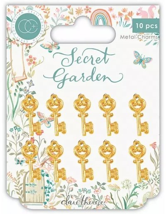 Adornos metal llaves Secret Garden de Craft Consortium