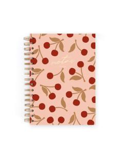 Cuaderno A5 Cerezas Rosa de Charuca