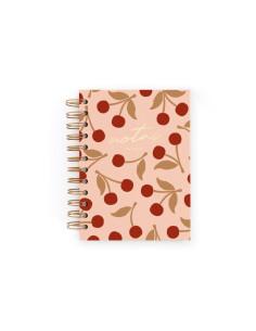 Cuaderno Mini Cerezas Rosa de Charuca