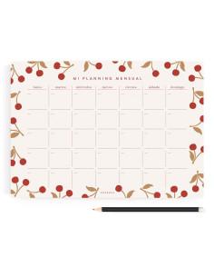Planificador mensual Cerezas de Charuca