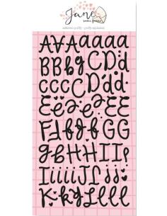 Alfabeto puffy Jane de Sami Garra