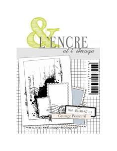 Sello Grunge Postcard de L'Encre et l'Image