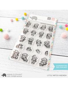 Sello Little Witch agenda de Mama Elephant