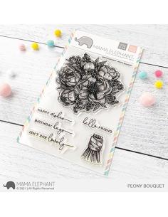 Sello Peony Bouquet de Mama Elephant
