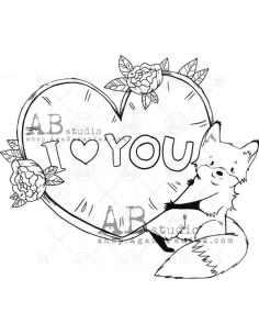Sello I Love You de AB Studio