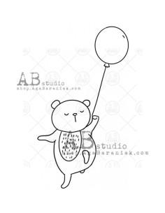 Sello Bear with balloon de AB Studio