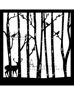 Stencil id-315 Trees AB Studio