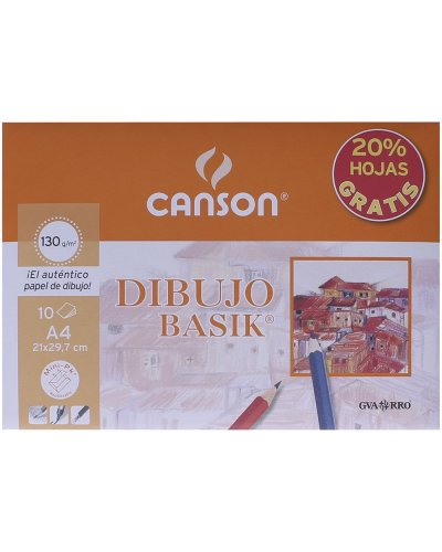 Mini pack dibujo basic A4 (10 hojas) 130gr Canson
