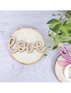 Adorno madera love