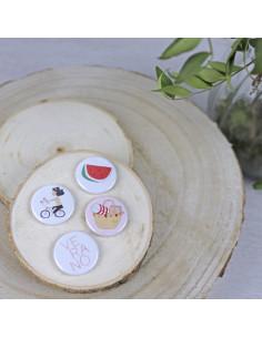 Pack de chapas picnic de Alúa Cid