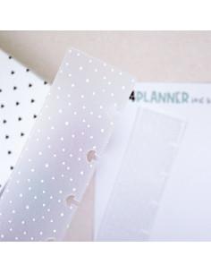 Guías topitos BLANCOS para encuadernación Kits4planner A5