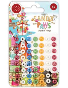 Enamel Rings Sandy Paws de Craft Consortium