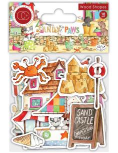Figuras de madera Sandy Paws de Craft Consortium