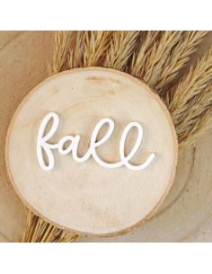 palabra acrílica Fall en blanco