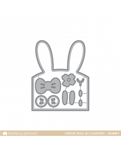 Mama Elephant Favor bag bunny dies