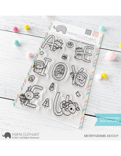 SELLO MERRYGRAMS AEIOUY MAMA ELEPHANT