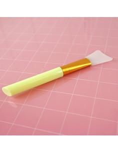 Espátula silicona para adhesivos y mix media Amarillo