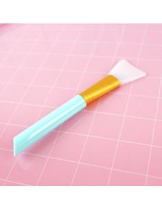 Espátula silicona para adhesivos y mix media Azul