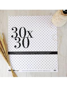 Bolsa organización 30x30cm para papeles de scrapbooking