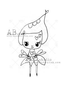 Sello de caucho TandiArt fairy de AB Studio